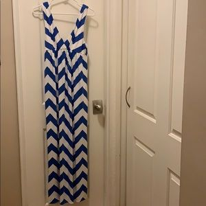 J. Crew Chevron Maxi Dress